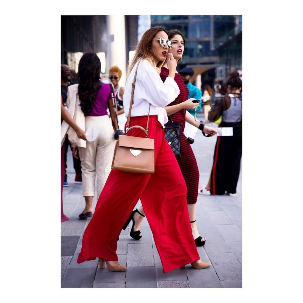 Red is the new black! ffwddxb dubaistreetstyle streetwear red dubaifashionhellip