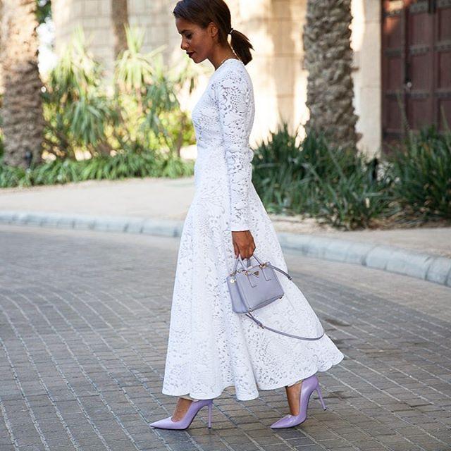 Ladylike thefiercenay wearing kristinafidelskaya dress streetstyledubai ffwddxb dubaiblogger fashionista dubaistreetstylehellip