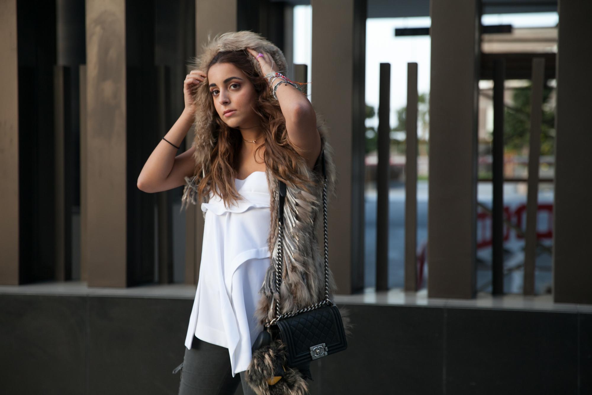 fur vest fashion in winter dubai