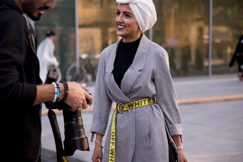 hijab street style dubai